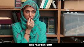 Hijab wearing Arab teen banged for shoplifting